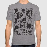 Topsy Turvy - Light Mens Fitted Tee Athletic Grey SMALL