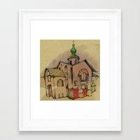Framed Art Print featuring Russian church by Natsuki Otani
