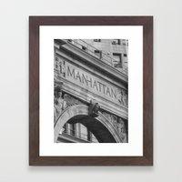 Old NY Framed Art Print