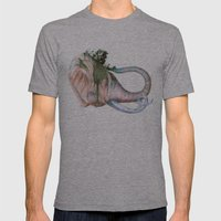 Elephant Shower in Red Mens Fitted Tee Athletic Grey SMALL