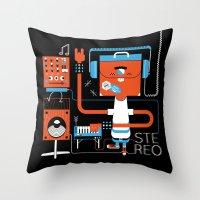 Stereo Found Throw Pillow