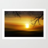 Exmoor Sunset Art Print