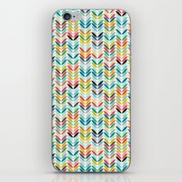 llama leaf arrow chevron white iPhone & iPod Skin