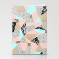 Geo Lights Stationery Cards