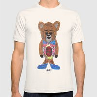 GORDY  Mens Fitted Tee Natural SMALL