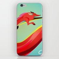Fox painting the skyline iPhone & iPod Skin
