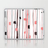 Hand Drawn Coral Black W… Laptop & iPad Skin