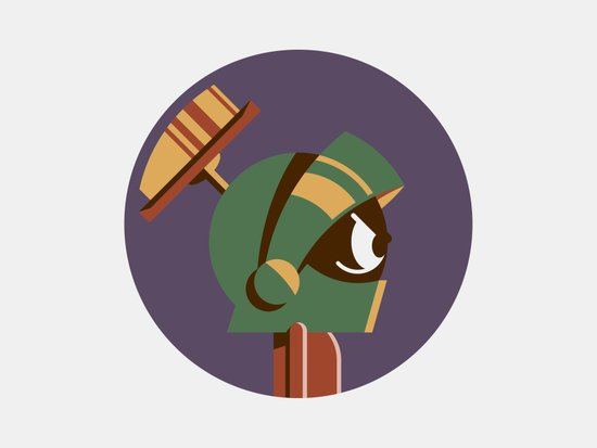 Headgear - Marvin the Martian Art Print