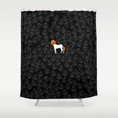 Jack O Unicorn Shower Curtain