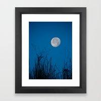 Faded Moon Framed Art Print