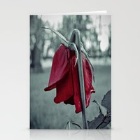 Weeping rose Stationery Cards