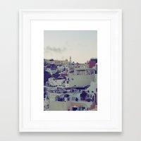 Fira At Dusk IV Framed Art Print