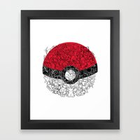 ONE BALL TO CATCH THEM ALL Framed Art Print