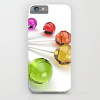 iPhone Cases featuring Rainbow Lollipop by CharismArt