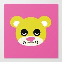 Blah Bear Canvas Print