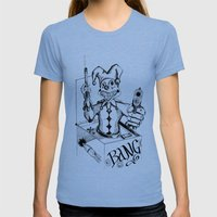 Jack (Gunslinger in a Box) Womens Fitted Tee Tri-Blue SMALL