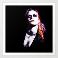 Kristen Stewart - Lumino… Art Print