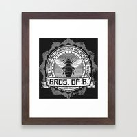 Bros. of B. Dark Framed Art Print
