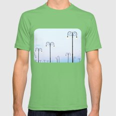 Street Lamps on the Malecón Mens Fitted Tee Grass SMALL