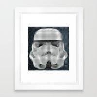 Stormtrooper Pantone Pop Framed Art Print