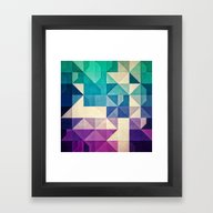 Framed Art Print featuring Pyrply by Spires