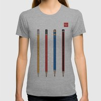 Art not War - Pencils Womens Fitted Tee Athletic Grey SMALL