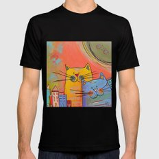City cats SMALL Mens Fitted Tee Black
