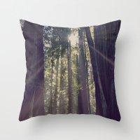Redwoods Hike Throw Pillow