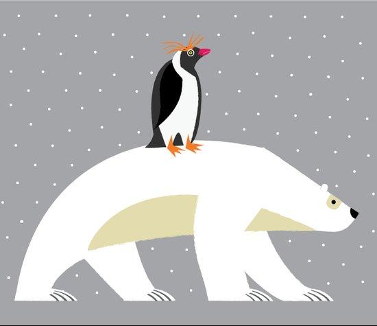 The Polar Bear and The Penguin Canvas Print