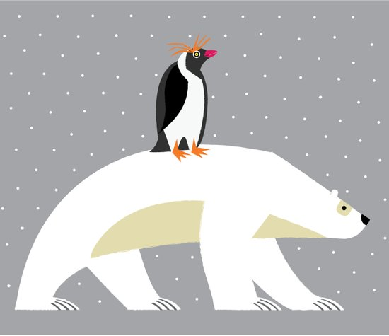 The Polar Bear and The Penguin Art Print