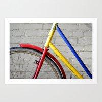 bike Art Prints featuring Bike by Marieken