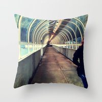 Onward Into The Tunnel F… Throw Pillow