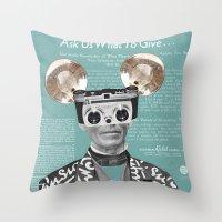 Felix Polaroid Throw Pillow