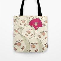 Sheep Pattern | Pink Tote Bag