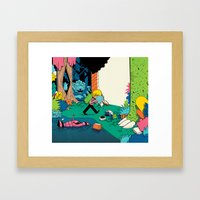 Getting Into A Good Book Framed Art Print