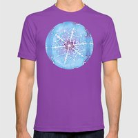 Watercolor Snowflake Mens Fitted Tee Ultraviolet SMALL