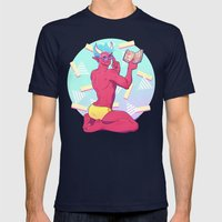 Demon Pin-up Mens Fitted Tee Navy SMALL