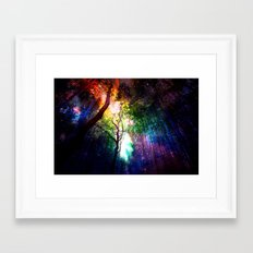 rainbow rain Framed Art Print