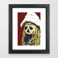Friendly Scarecrow - Color Version Framed Art Print