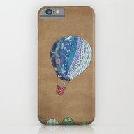 Blue Hot Air Balloon iPhone 6 Slim Case