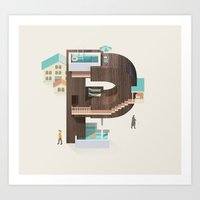 Resort Type - Letter P Art Print