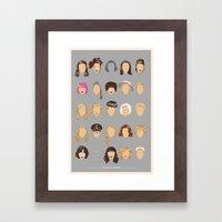 25 FACES OF SCARLETT Framed Art Print