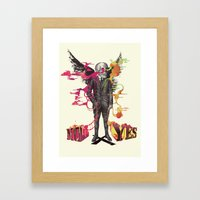 The Cycle Of Indecisive … Framed Art Print