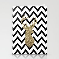 Glitter Deer Silhouette … Stationery Cards