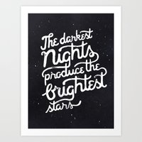 Darkest Nights Art Print