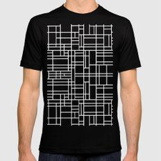 Stained Glass W SMALL Mens Fitted Tee Black