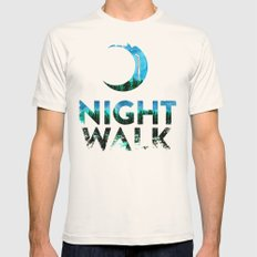 Night Walk Mens Fitted Tee Natural SMALL