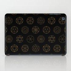 Geocircles (Golden) iPad Case