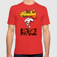Danger-kira Mouse Mens Fitted Tee Red SMALL