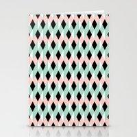 Ribbon Pattern Stationery Cards